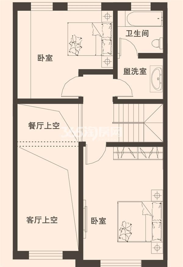 别墅B2户型183平米二层