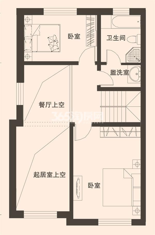 别墅A1户型189平米二层