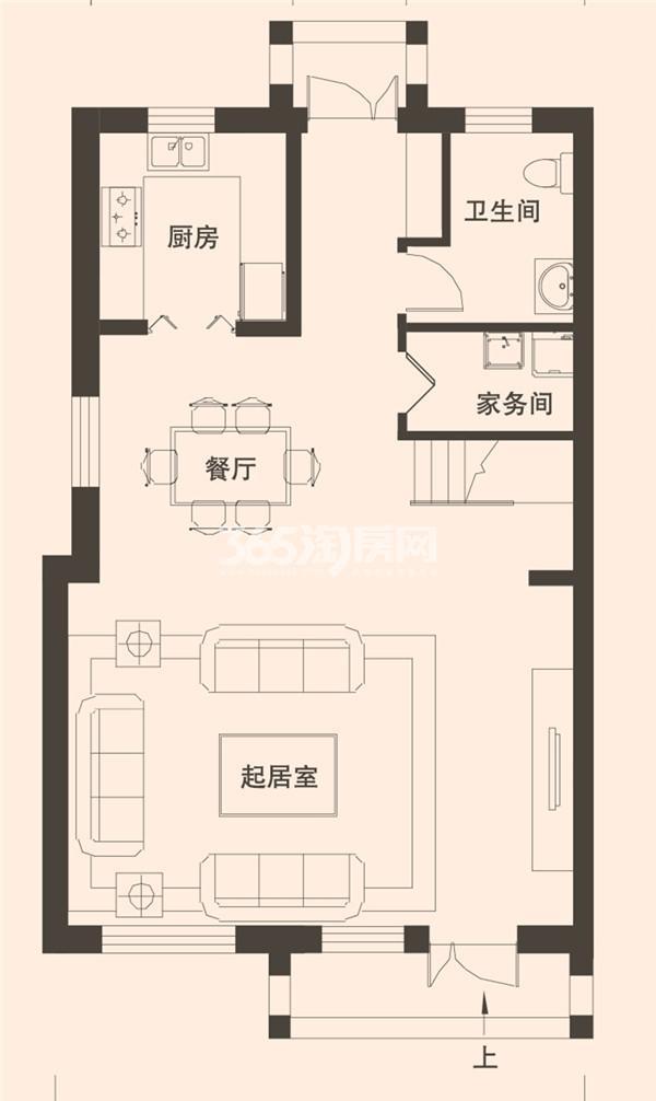 别墅A1户型189平米一层