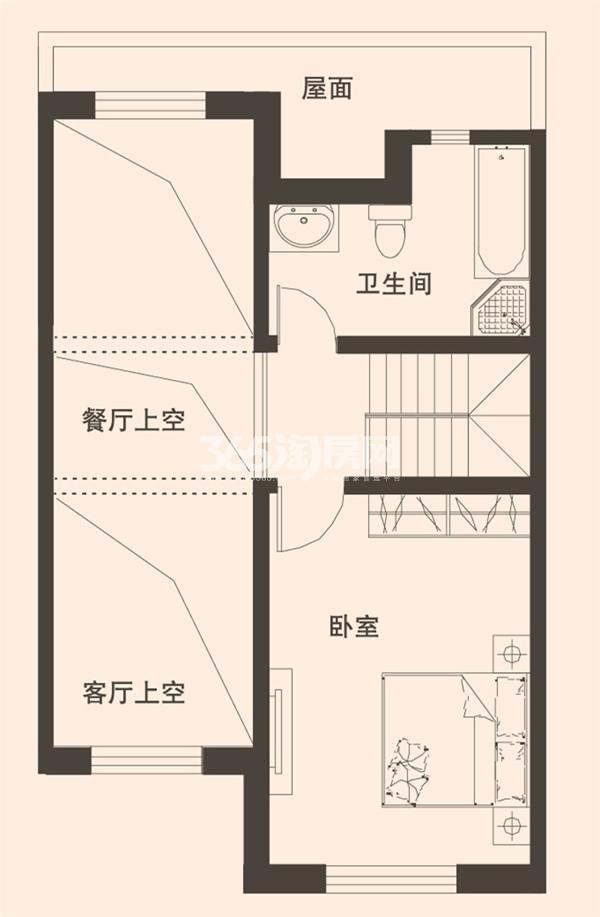别墅B2户型183平米三层