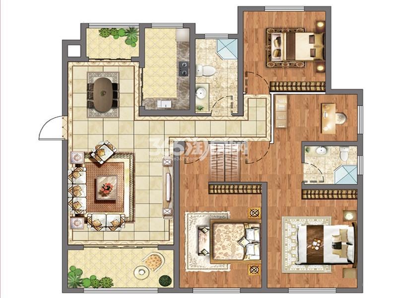 G户型4室2厅2卫1厨 133.00㎡