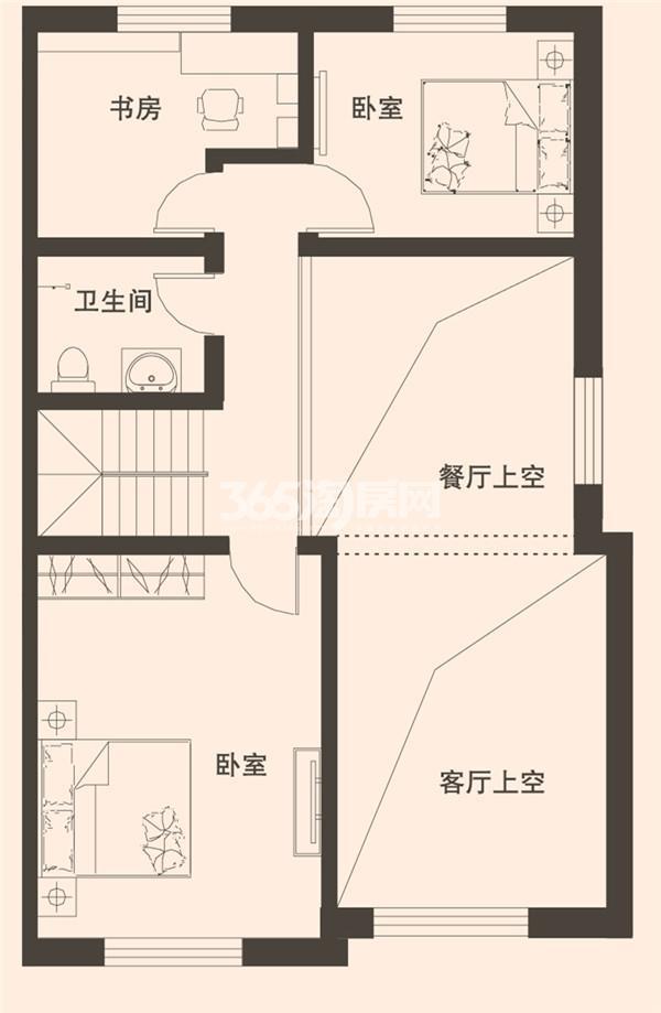 201平米别墅二层