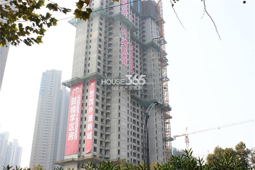 世茂外滩新城在建楼栋近景(11.10)