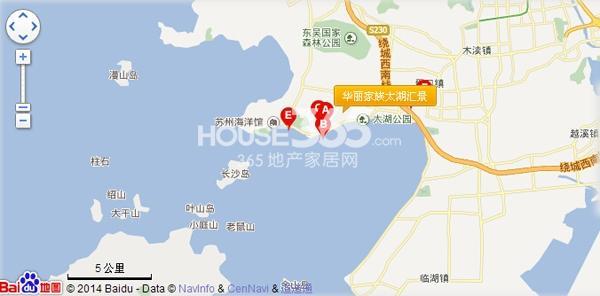 华丽家族太湖汇景交通图