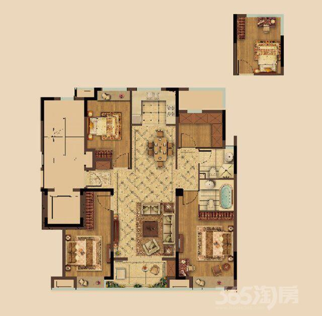 融创臻园4室2厅2卫120平米2018年产权房毛坯