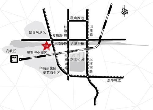 顶佳金领地交通图