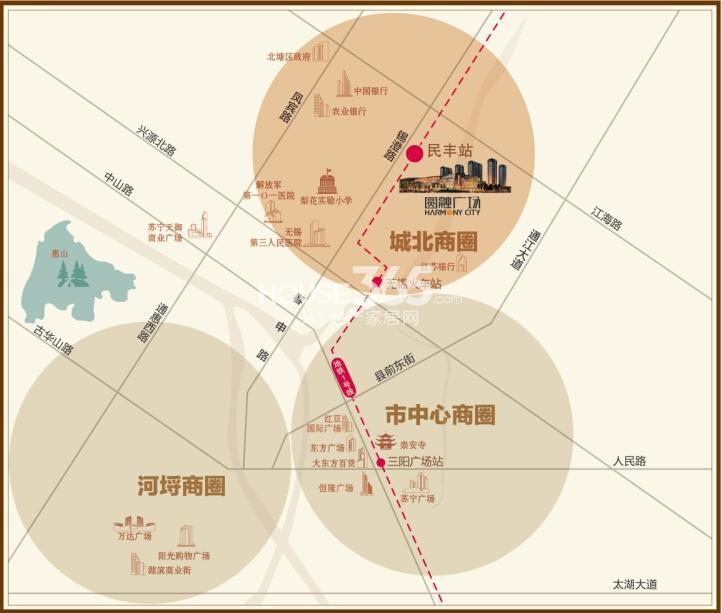 无锡圆融广场交通图