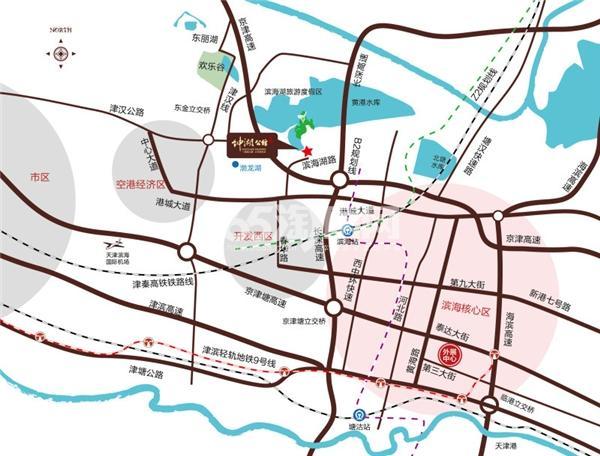 绅湖公馆交通图