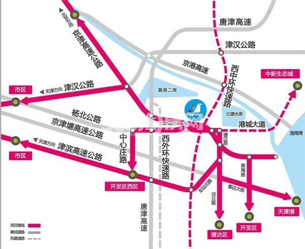滨海欣嘉园交通图