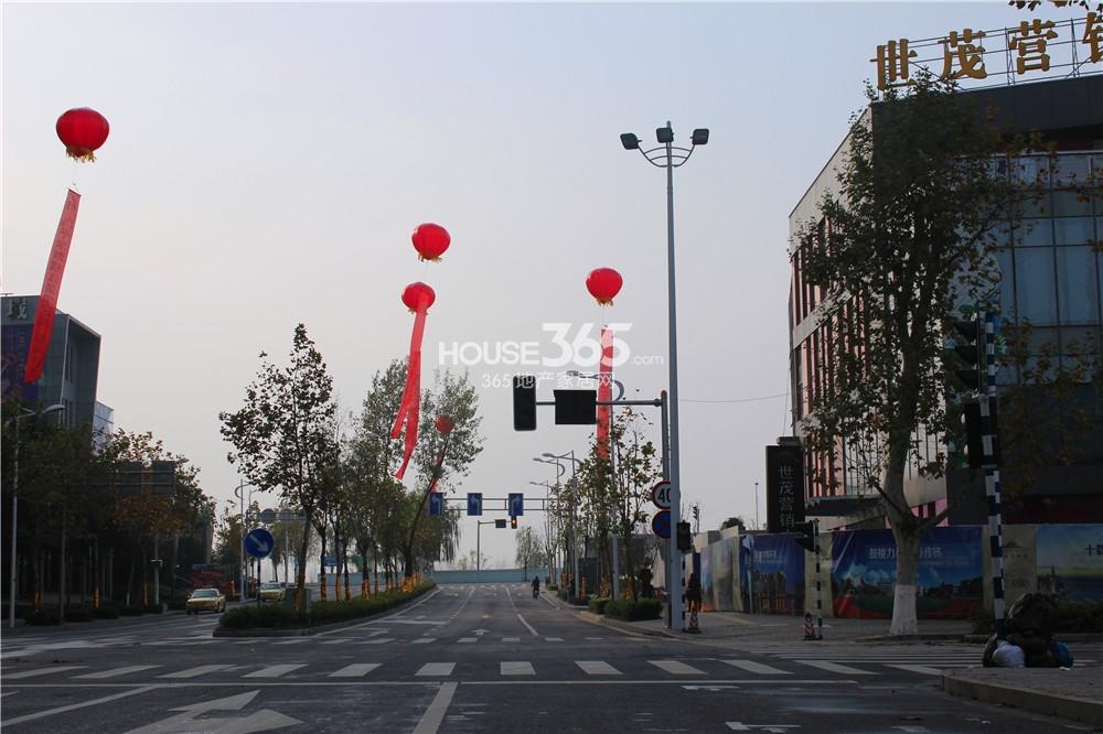 世茂外滩新城紧临南通路(12.10)