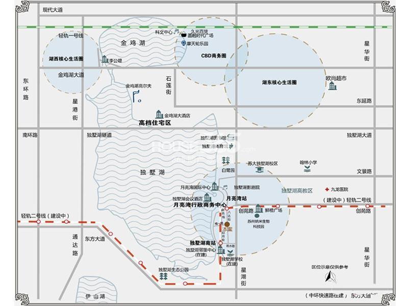 月亮湾3号交通图