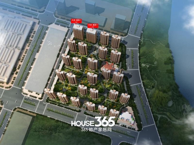 华南城紫荆名都小米国际鸟瞰图