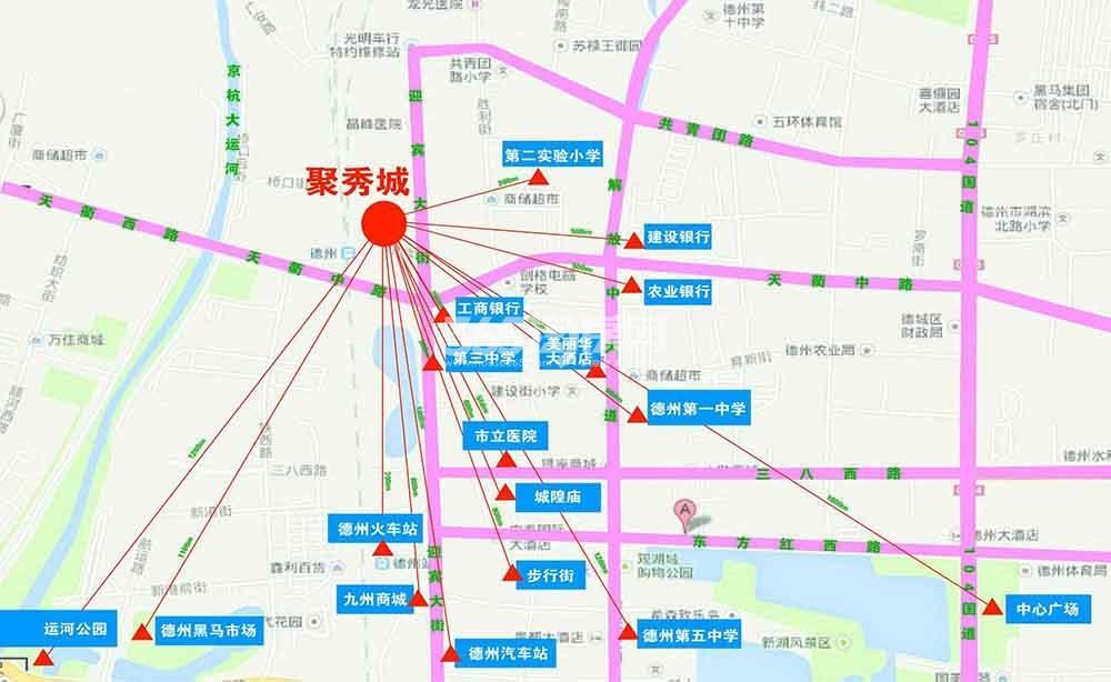 聚秀城交通图