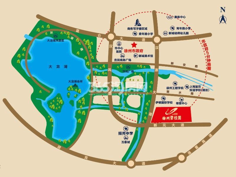 徐州碧桂园交通图