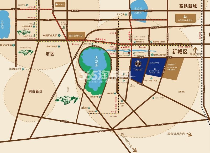 中锐星尚城交通图