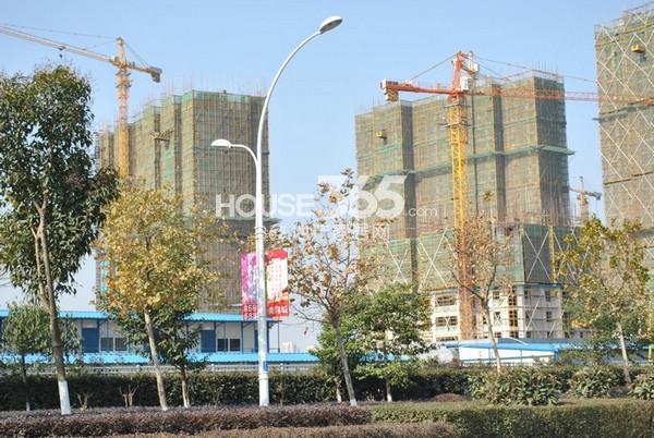 雅居乐中心广场工程实景图(2014.12 摄)