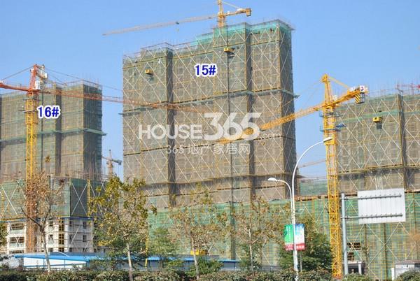 雅居乐中心广场15#楼工程实景图(2014.12 摄)