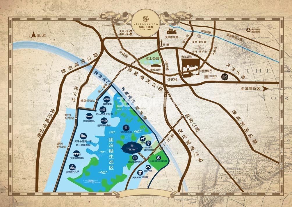 金地长湖湾交通图