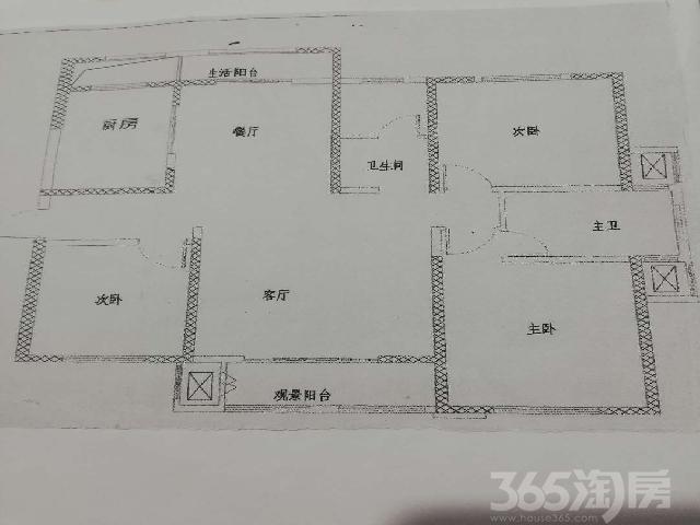 盛大凯旋城3室2厅2卫159.00�O2015年满两年产权房精