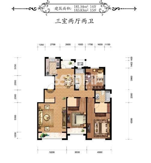 华厦津典三期川水园户型图