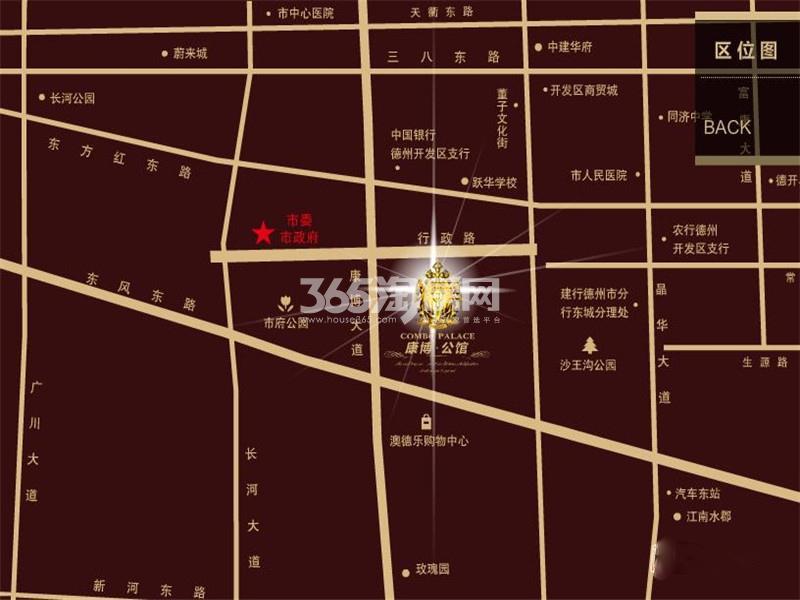 康博公馆交通图