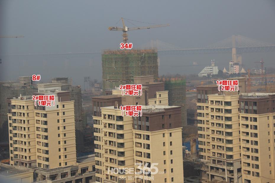 华强城美加印象工程进度 四期在售楼栋全部封顶(2015年1月摄)