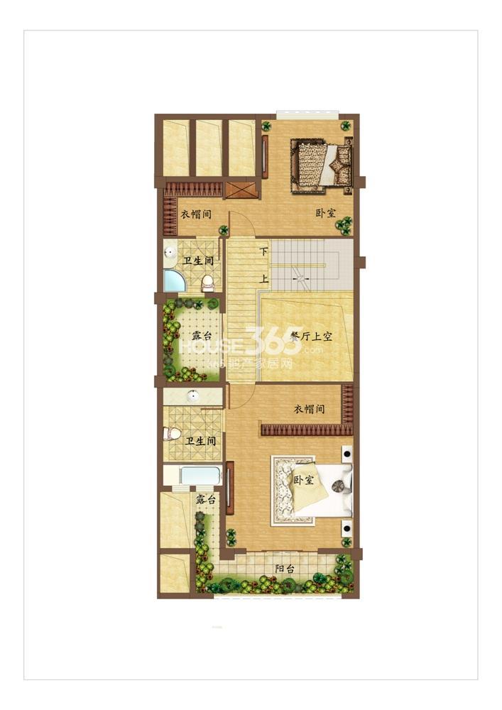 创源无想墅联排别墅c3二层户型图
