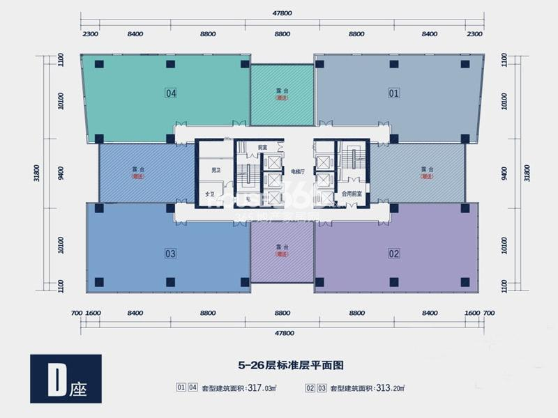 禾盛京广中心户型图