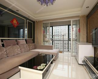 河西万达广场 精装全南两房 中央空调地暖 随时拎包入住