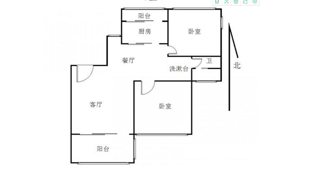 栖霞区仙林尚东花园2室2厅户型图