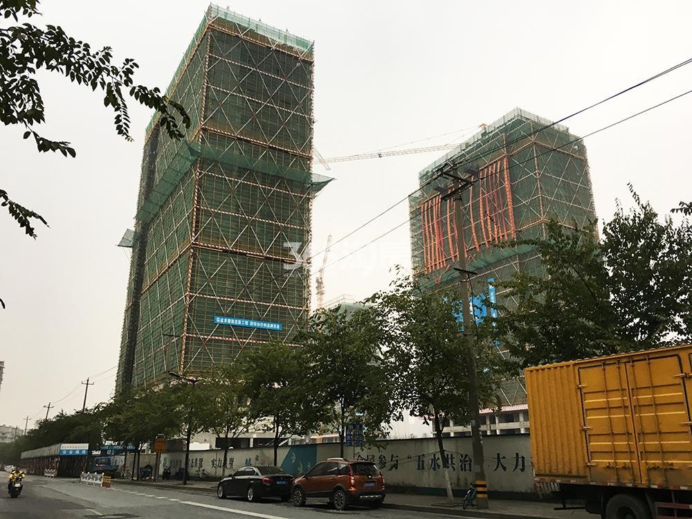 2017.10.29首开杭州金茂府高层实景(隐秀路上拍摄)