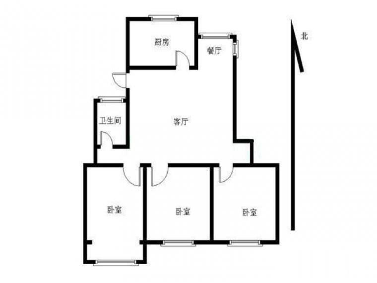 建邺区奥体嘉业国际城1室1厅户型图