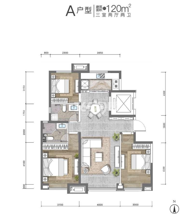 枫林九溪户型图