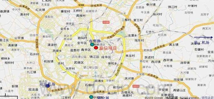 西部国际金融中心交通图