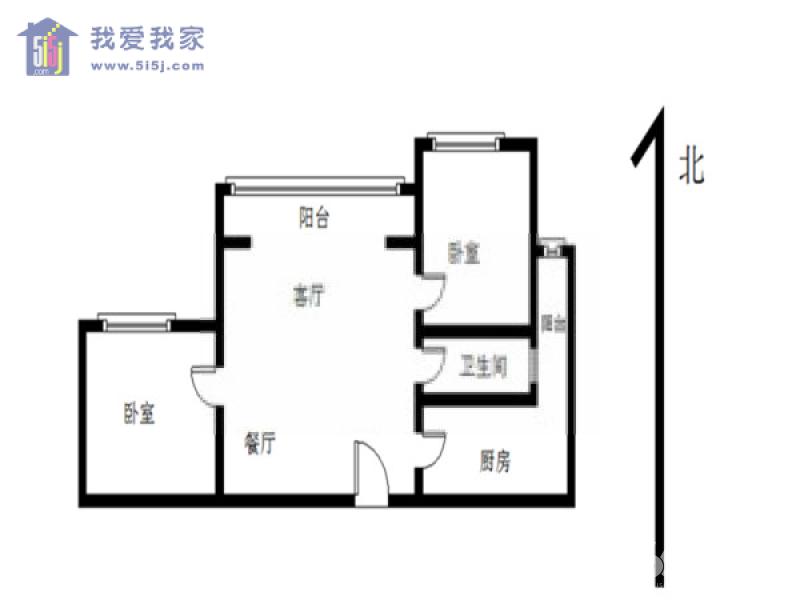 玄武区后宰门佛心桥小区2室1厅户型图