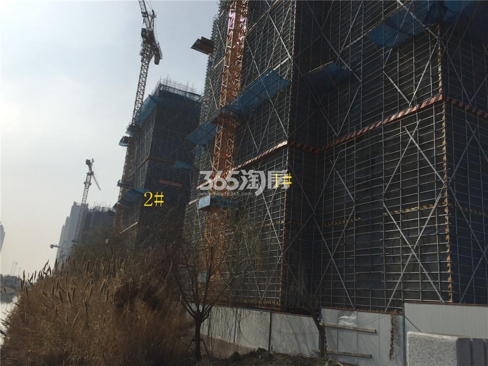 绿地华侨城海珀滨江1、2#实景图(3.20)