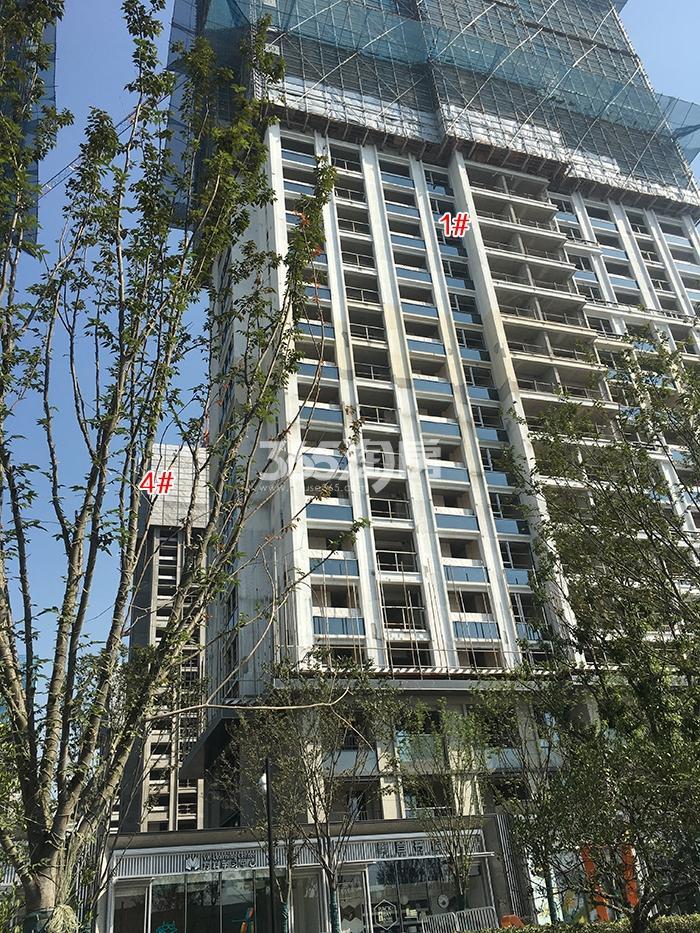 万科融信西雅图1、4号楼实景图(2017.10)