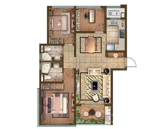正荣润峯3室2厅2卫690万元103平方