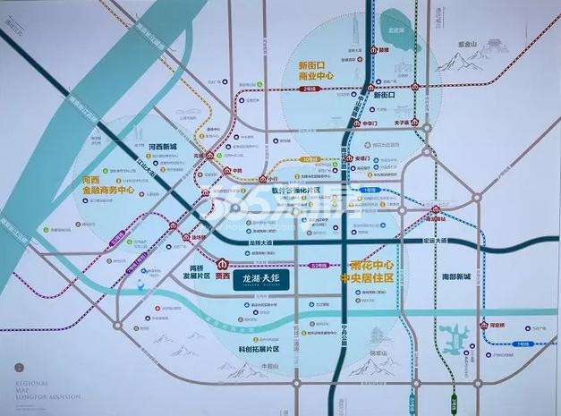 龙湖天钜交通图