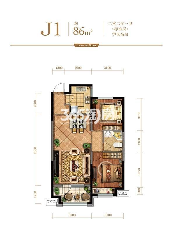 金地檀悦J1户型
