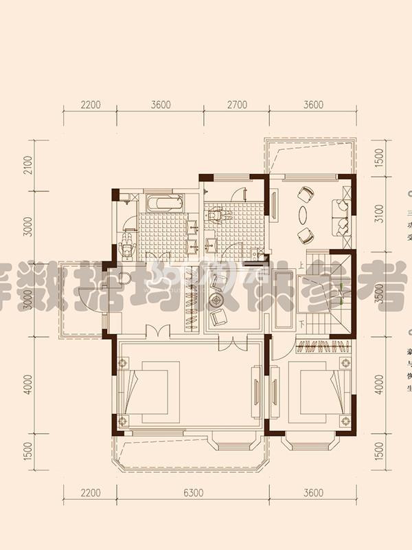 保利西山林语F19#楼02户型460㎡之二层108㎡