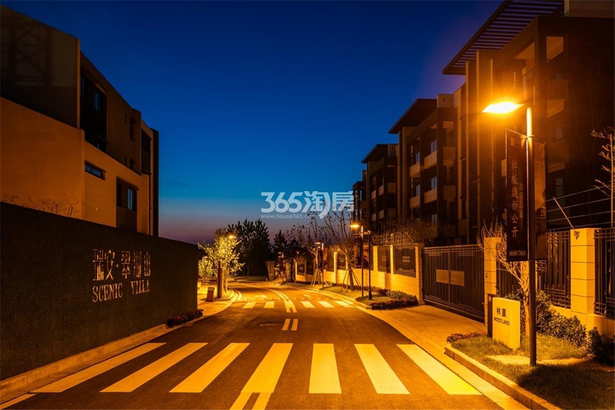瑞安翠湖山夜间道路实景(2.11)