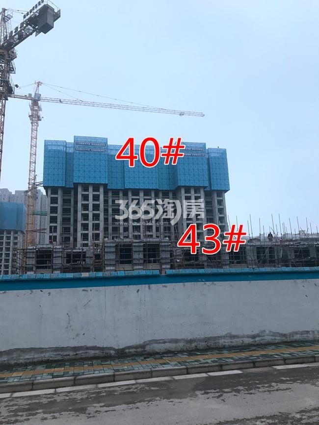 荣盛花语城40、43#工地建设进度实景图(7.26)