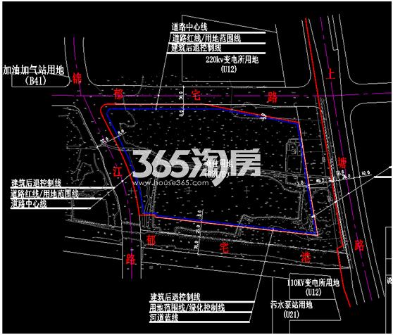 德信良渚新城商住地(65号地块)红线图