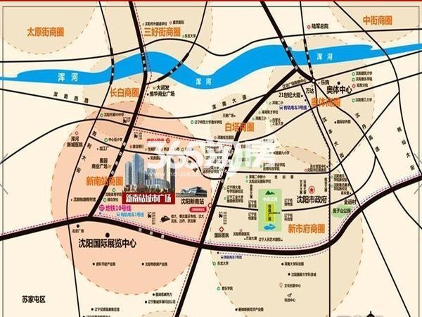 华樾新南站城市广场交通图