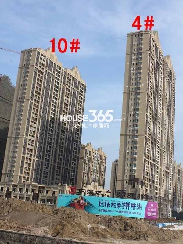 中海凤凰熙岸4#、10#工程进度图(2015.3)