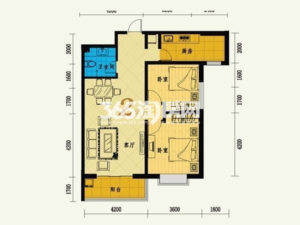 11号楼 2号房 两室两厅一卫 103.46㎡