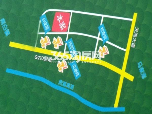 正源金港城交通图