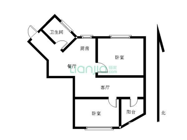 旭日爱上城一区 2室2厅 80平
