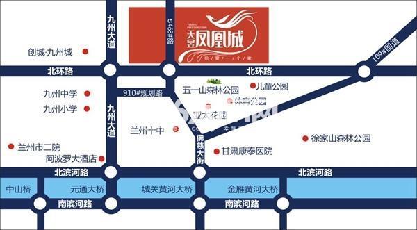 天昱凤凰城交通图